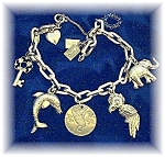 Click to view larger image of Bracelet  14K Gold 9 CHARM 22.1 grams (Image1)
