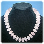 Necklace Rose Quartz Sterling Silver Toggle Clasp