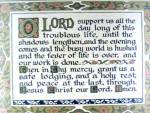 Vintage Framed Prayer Lord Support us 40s