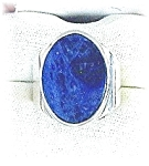 Sterling Silver & Lapis Signed Cerroblanco Ring . . . .