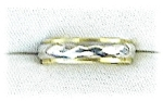 Ring 14K White & Yellow Gold Wedding Band