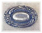 Click here to enlarge image and see more about item 0725200429: Silver Forget Me Not Brooch