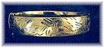 Click here to enlarge image and see more about item 0725200455: English Gold Filled Bangle Bracelet