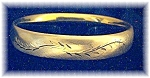 Lovely 1/20 12K  Gold Filled Bangle Bracelet