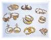 Click to view larger image of Goldtone Sterling Silvertone Bags Of Earrings (Image3)