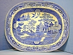 English Willow pattern Blue  White Platter H &K