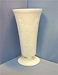 Click to view larger image of Milk Glass Indiana White Paneled Grape Flower Vase (Image1)