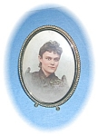 Click here to enlarge image and see more about item 0730200509: Goldtone Vintage 3 1/2 Inch Photo Frame