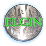 Click here to enlarge image and see more about item 0730200510: COMPACT Goldtone ELGIN American powder