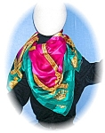 Click here to enlarge image and see more about item 0730200513: SILK SCARF - ELLEN TRACY
