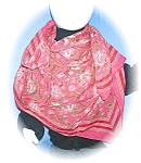 Click here to enlarge image and see more about item 0730200518: Large SILK SCARF.