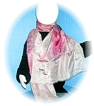 Click here to enlarge image and see more about item 0730200520: PARIS  SIGNED SILK SCARF STOLE