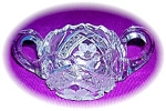 Click here to enlarge image and see more about item 0731200505: Heavy Cut Crystal Double Handled Sugar Bowl