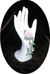 Porcelain Rin Holder Hand & Rose' s