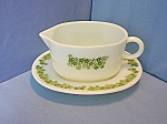 Click here to enlarge image and see more about item 0731200807: Pyrex Gravy Boat Crazy Daisy Spring Blossom 60s
