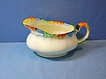 Click here to enlarge image and see more about item 0731200808: GRINDLEY -  SAUCE BOAT or MILK JUG Cream Petal . . .