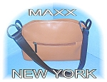 Click to view larger image of Tan/Black MAXX Of New York Bag/Purse (Image1)