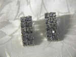Sparkling Rhinestone Encrusted Clip Earrings