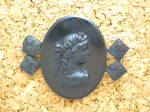 Click to view larger image of Antique Black Glass Jet Cameo (Image6)
