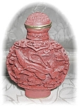 Click to view larger image of CINNABAR CHINESE Red SNUFF BOTTLE (Image1)