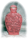 Click to view larger image of CINNABAR CHINESE SNUFF BOTTLE (Image1)