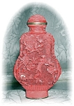 Click to view larger image of CINNABAR CHINESE SNUFF BOTTLE Red (Image1)