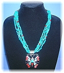 Necklace Sterling Silver Spiney Oyster Turquoise Onyx