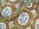 Click to view larger image of Vintage Gold Brocade Beaded Bag, Purse (Image4)