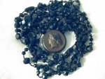 Victorian Jet Beads Bog Oak Hair Picture Locket