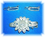 Click to view larger image of 3 Vintage Rhinestone Hair Barrettes (Image1)