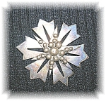 Sterling Silver Signed P. Fales Brooch Pin
