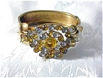 Click here to enlarge image and see more about item 08100339: Goldtone & Rhinestone/Crystal Bangle Bracelet
