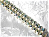 Click to view larger image of Goldtone Pearl Blue Borealis BSK Bracelet (Image2)