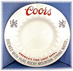 Cream & Red Adolph Coors Ashtray