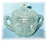 Click here to enlarge image and see more about item 0811200404: Covered Depression Glass Sugar Bowl