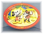 Click here to enlarge image and see more about item 0811200410: Cookie Tin Metal 1996 Mickey & Minnie Mouse