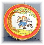 Click here to enlarge image and see more about item 0811200412: Cookie Tin 1987 Raggedy Ann & Andy