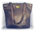 Bag Large Black Leather ENZO ANGOLINI Tote