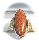 Click to view larger image of Goldstone & Sterling Silver Ring . . . . . . . . (Image2)