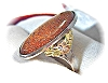 Click to view larger image of Goldstone & Sterling Silver Ring . . . . . . . . (Image3)