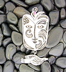 Click to view larger image of Sterling Silver Amethyst Artist Pendant (Image1)