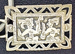 Click here to enlarge image and see more about item 0819200788: Sterling Silver Warriors Key Fob Guatemala