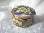 Click to view larger image of Primroses & Violets STAFFORDSHIRE Box (Image1)