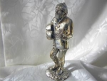 English Silverplate Woodsman With Logs