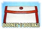 Cream & Tan Leather Dooney & Bourke Wallet