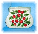 Click to view larger image of Lucite Links Cherries Needlepoint Purse Bag USA (Image1)
