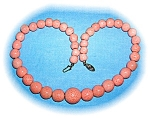 Click to view larger image of Sponge Coral Pink Graduatedd Bead Necklace (Image1)