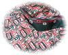 Click to view larger image of Red/Black/Beige Silk 61 Inch Stole (Image3)