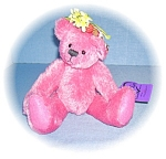 Click here to enlarge image and see more about item 0821200586: Annette Funicello  Pink Mohair Bear 10 Inches