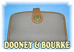 Click to view larger image of Tan Leather & Fabric DOONEY & BOURKE Wallet (Image1)